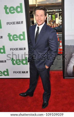 """LOS ANGELES, CA - JUNE 22, 2012: Mark Wahlberg at the world premiere of his movie """"Ted"""" at Grauman's Chinese Theatre, Hollywood. - stock photo"""