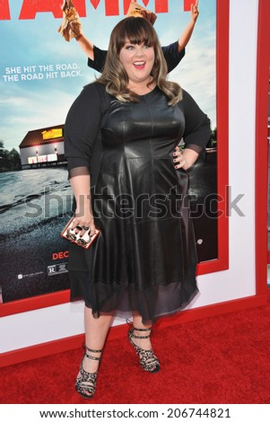 "LOS ANGELES, CA - JUNE 30, 2014: Melissa McCarthy at the premiere of her movie ""Tammy"" at the TCL Chinese Theatre, Hollywood.  - stock photo"