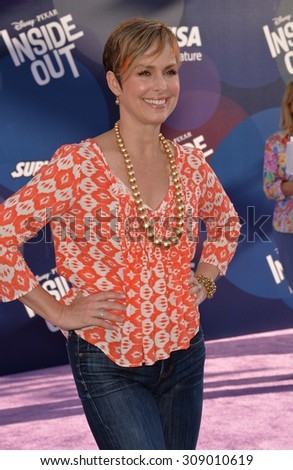 """LOS ANGELES, CA - JUNE 9, 2015: Melora Hardin at the Los Angeles premiere of Disney-Pixar's """"Inside Out"""" at the El Capitan Theatre, Hollywood.  - stock photo"""