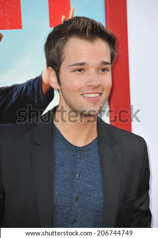 "LOS ANGELES, CA - JUNE 30, 2014: Nathan Kress at the premiere of ""Tammy"" at the TCL Chinese Theatre, Hollywood.  - stock photo"