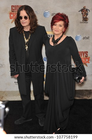 LOS ANGELES, CA - JUNE 5, 2010: Ozzy Osbourne & wife Sharon Osbourne at Spike TV's Guys Choice Awards 2010 at Sony Studios, Culver City. - stock photo