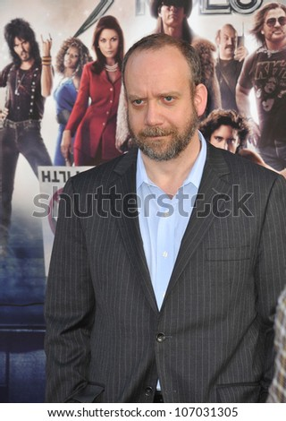 "LOS ANGELES, CA - JUNE 9, 2012: Paul Giamati at the world premiere of his new movie ""Rock of Ages"" at Grauman's Chinese Theatre, Hollywood. June 9, 2012  Los Angeles, CA"