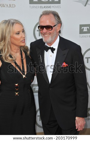 LOS ANGELES, CA - JUNE 5, 2014: Peter Fonda & wife Margaret (Parky) DeVogelaere at the 2014 American Film Institute's Life Achievement Awards honoring Jane Fonda, at the Dolby Theatre, Hollywood.