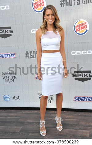 LOS ANGELES, CA - JUNE 7, 2014: Renee Bargh at Spike TV's 2014 Guys Choice Awards at Sony Studios, Culver City.