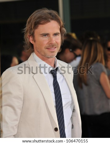 "LOS ANGELES, CA - JUNE 21, 2011: Sam Trammell at the Los Angeles premiere of the fourth season of HBO's ""True Blood"" at the Cinerama Dome, Hollywood. June 21, 2011  Los Angeles, CA"