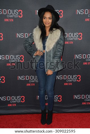 LOS ANGELES, CA - JUNE 5, 2015: Singer/actress China Anne McClain at the world premiere of Insidious Chapter 3 at the TCL Chinese Theatre, Hollywood.  - stock photo
