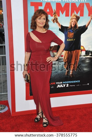 "LOS ANGELES, CA - JUNE 30, 2014: Susan Sarandon at the premiere of her movie ""Tammy"" at the TCL Chinese Theatre, Hollywood."