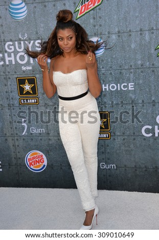 LOS ANGELES, CA - JUNE 7, 2015: Taraji P. Henson at Spike TV's 2015 Guys Choice Awards at Sony Studios, Culver City.