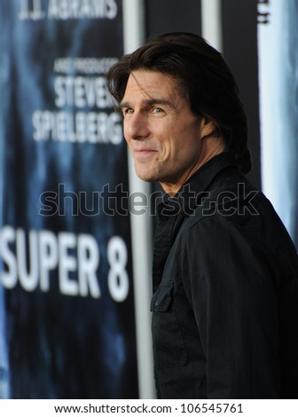 "LOS ANGELES, CA - JUNE 8, 2011: Tom Cruise at the Los Angeles premiere of ""Super 8"" at the Regency Village Theatre, Westwood. June 8, 2011  Los Angeles, CA"