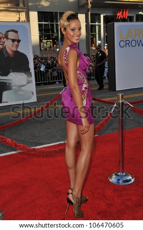 "LOS ANGELES, CA - JUNE 27, 2011: Victoria's Secret model Selita Ebanks at the world premiere of ""Larry Crowne"" at Grauman's Chinese Theatre, Hollywood. June 27, 2011  Los Angeles, CA - stock photo"