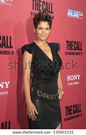 LOS ANGELES, CA - MAR 5: Halle Berry at the premiere of Tri Star Pictures' 'The Call' at ArcLight Cinemas on March 5, 2013 in  Los Angeles, California - stock photo