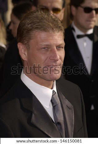 LOS ANGELES, CA - MARCH 10, 2002: Actor SEAN BEAN at the 8th Annual Screen Actors Guild Awards in Los Angeles.