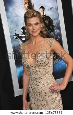 """LOS ANGELES, CA - MARCH 28, 2013: Adrianne Palicki at the Los Angeles premiere of her movie """"G.I. Joe: Retaliation"""" at the Chinese Theatre, Hollywood. - stock photo"""