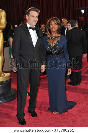 LOS ANGELES, CA - MARCH 2, 2014: Alfre Woodard at the 86th Annual Academy Awards at the Dolby Theatre, Hollywood.