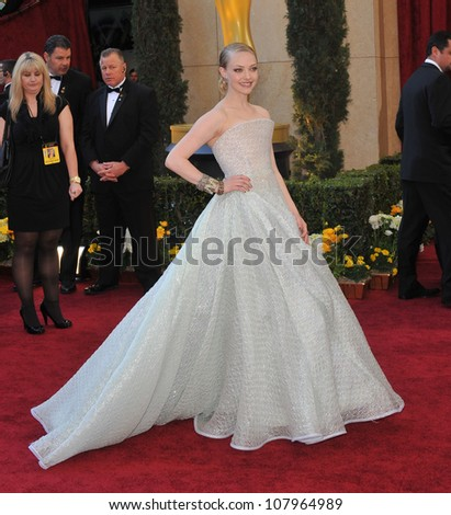 LOS ANGELES, CA - MARCH 7, 2010: Amanda Seyfried at the 82nd Annual Academy Awards at the Kodak Theatre, Hollywood. - stock photo