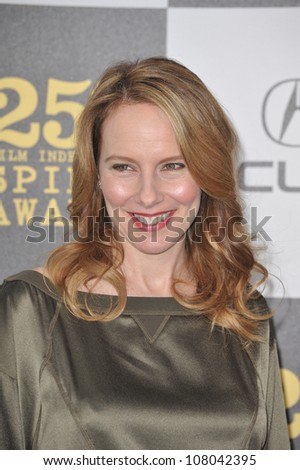 LOS ANGELES, CA - MARCH 5, 2010: Amy Ryan at the 25th Anniversary Film Independent Spirit Awards at the L.A. Live Event Deck in downtown Los Angeles.
