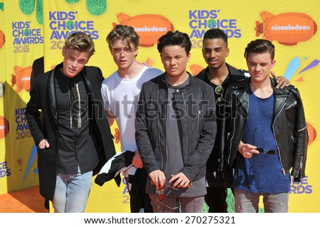 LOS ANGELES, CA - MARCH 28, 2015: B-Brave at the 2015 Kids Choice Awards at The Forum, Los Angeles.  - stock photo