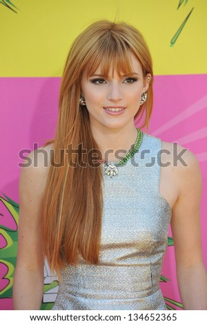 LOS ANGELES, CA - MARCH 23, 2013: Bella Thorne at Nickelodeon's 26th Annual Kids' Choice Awards at the Galen Centre, Los Angeles. - stock photo