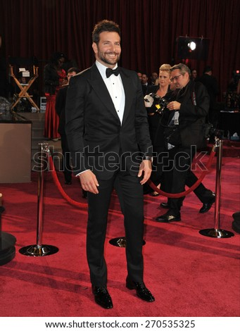 LOS ANGELES, CA - MARCH 2, 2014: Bradley Cooper at the 86th Annual Academy Awards at the Hollywood & Highland Theatre, Hollywood.  - stock photo