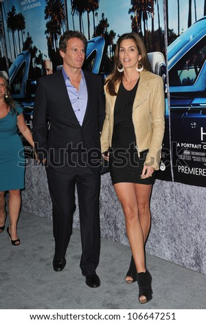 "LOS ANGELES, CA - MARCH 22, 2011: Cindy Crawford & husband Rande Gerber at the premiere of ""His Way"", about  Jerry Weintraub at Paramount Studios, Hollywood. March 22, 2011  Los Angeles, CA"