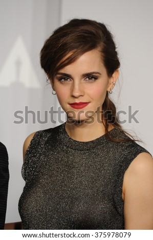 LOS ANGELES, CA - MARCH 2, 2014: Emma Watson at the 86th Annual Academy Awards at the Dolby Theatre, Hollywood.  - stock photo