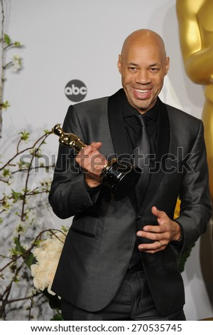 LOS ANGELES, CA - MARCH 2, 2014: John Ridley at the 86th Annual Academy Awards at the Dolby Theatre, Hollywood.  - stock photo