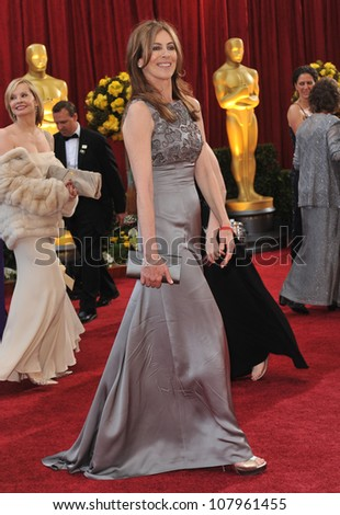 LOS ANGELES, CA - MARCH 7, 2010: Kathryn Bigelow at the 82nd Annual Academy Awards at the Kodak Theatre, Hollywood. - stock photo