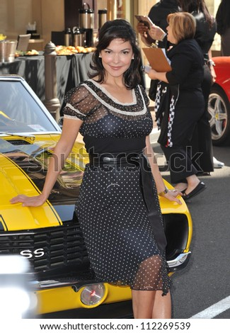 "LOS ANGELES, CA - MARCH 31, 2009: Laura Harring at press event to launch ""The Rally for Kids with Cancer Scavenger Cup"" at The Americana at Brand Shopping Centre, Glendale"