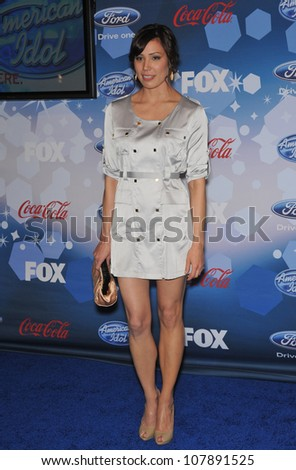 LOS ANGELES, CA - MARCH 11, 2010: Michaela Conlin at the party for the American Idol Final 12 at Industry, Los Angeles.