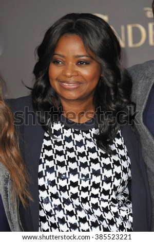 "LOS ANGELES, CA - MARCH 1, 2015: Octavia Spencer at the world premiere of ""Cinderella"" at the El Capitan Theatre, Hollywood."
