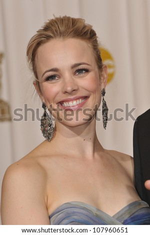 LOS ANGELES, CA - MARCH 7, 2010: Rachel McAdams at the 82nd Academy Awards at the Kodak Theatre, Hollywood. - stock photo