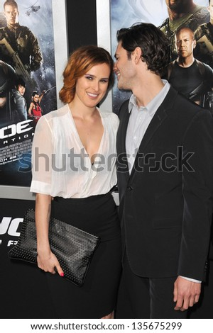 """LOS ANGELES, CA - MARCH 28, 2013: Rumer Willis & Jayson Blair at the Los Angeles premiere of """"G.I. Joe: Retaliation"""" at the Chinese Theatre, Hollywood. - stock photo"""