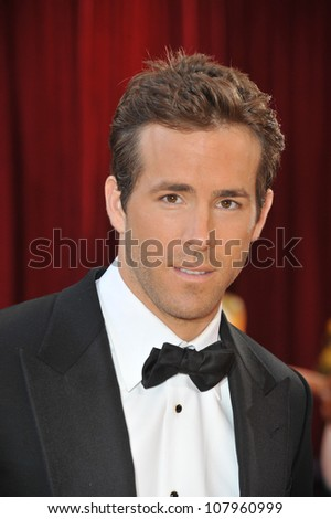 LOS ANGELES, CA - MARCH 7, 2010: Ryan Reynolds at the 82nd Annual Academy Awards at the Kodak Theatre, Hollywood. - stock photo