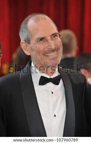 LOS ANGELES, CA - MARCH 7, 2010: Steve Jobs at the 82nd Annual Academy Awards at the Kodak Theatre, Hollywood. - stock photo
