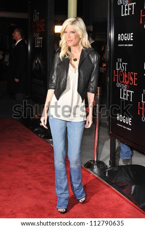 "LOS ANGELES, CA - MARCH 10, 2009: Tori Spelling at the world premiere of ""The Last House on the Left"" at the Arclight Theatre, Hollywood. - stock photo"