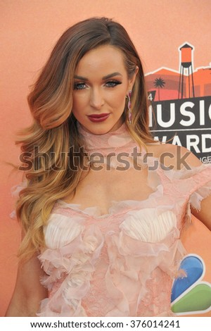 LOS ANGELES, CA - MAY 1, 2014: Courtney Bingham at the 2014 iHeartRadio Music Awards at the Shrine Auditorium, Los Angeles.