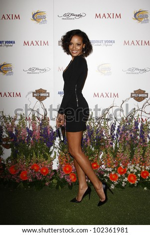LOS ANGELES, CA - MAY 19: Selita Ebanks arrives at the 11th annual Maxim Hot 100 Party at Paramount Studios on May 19, 2010 in Los Angeles, California - stock photo