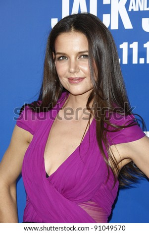 LOS ANGELES, CA - NOV 6: Actress Katie Holmes arrives at the Los Angeles premiere of 'Jack And Jill' held at Regency Village Theater on November 6, 2011 in Westwood, California