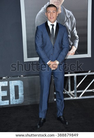 "LOS ANGELES, CA - NOVEMBER 19, 2015: Actor Gabriel Rosado at the Los Angeles World premiere of ""Creed"" at the Regency Village Theatre, Westwood."