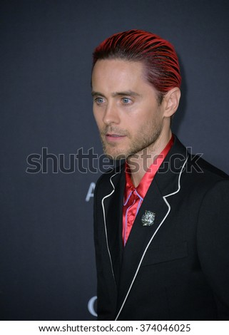 LOS ANGELES, CA - NOVEMBER 7, 2015: Actor Jared Leto at the 2015 LACMA Art+Film Gala at the Los Angeles County Museum of Art.