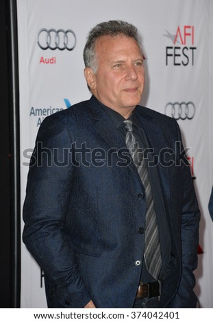 "LOS ANGELES, CA - NOVEMBER 10, 2015: Actor Paul Reiser at the premiere of his movie ""Concussion"", part of the AFI FEST 2015, at the TCL Chinese Theatre, Hollywood."