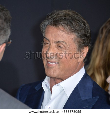 """LOS ANGELES, CA - NOVEMBER 19, 2015: Actor Sylvester Stallone at the Los Angeles World premiere of """"Creed"""" at the Regency Village Theatre, Westwood. - stock photo"""