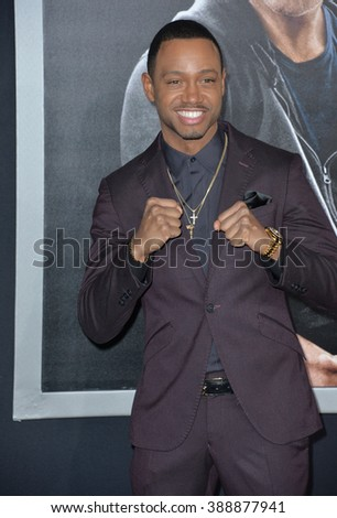 """LOS ANGELES, CA - NOVEMBER 19, 2015: Actor Terrence J (Terrence Jenkins) at the Los Angeles World premiere of """"Creed"""" at the Regency Village Theatre, Westwood. - stock photo"""