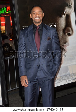 "LOS ANGELES, CA - NOVEMBER 10, 2015: Actor Will Smith at the premiere of his movie ""Concussion"", part of the AFI FEST 2015, at the TCL Chinese Theatre, Hollywood.