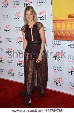 "LOS ANGELES, CA - NOVEMBER 5, 2015: Actress Melanie Laurent at the AFI Festival premiere of her movie ""By the Sea"" at the TCL Chinese Theatre"