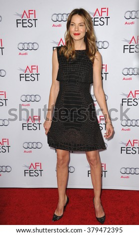 LOS ANGELES, CA - NOVEMBER 12, 2014: Actress Michelle Monaghan at the American Film Institute's special tribute gala honoring Sophia Loren at the Dolby Theatre. - stock photo