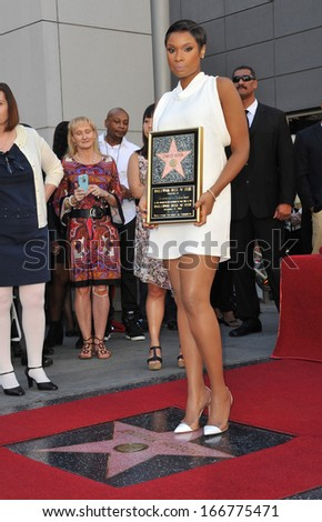 LOS ANGELES, CA - NOVEMBER 13, 2013: Actress/singer Jennifer Hudson is honored with the 2,512th star on the Hollywood Walk of Fame.  - stock photo
