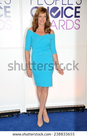 LOS ANGELES, CA - NOVEMBER 4, 2014: Allison Janney at the nominations announcement for the 2015 People's Choice Awards at the Paley Center for Media, Beverly Hils.  - stock photo