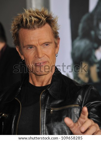 "LOS ANGELES, CA - NOVEMBER 9, 2009: Billy Idol at the world premiere of Walt Disney's ""Old Dogs"" at the El Capitan Theatre, Hollywood. - stock photo"