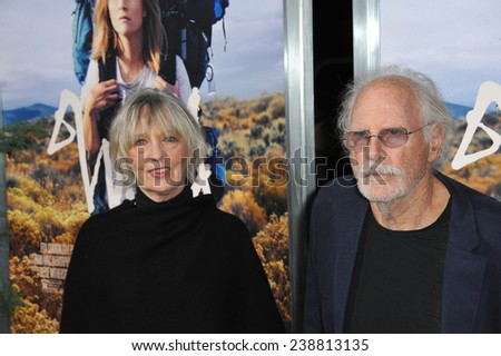 "LOS ANGELES, CA - NOVEMBER 19, 2014: Bruce Dern & wife at the Los Angeles premiere of  ""Wild"" at the Samuel Goldwyn Theatre, Beverly Hills."
